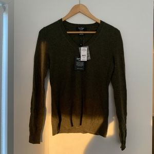 Lord & Taylor Olive Cashmere Sweater